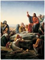 """Картина на холсте """"НАГОРНАЯ ПРОПОВЕДЬ"""" Карл Генрих Блох (1834-1890)"""
