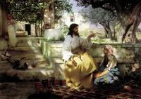 """Картина на холсте """"ХРИСТОС У МАРФЫ И МАРИИ"""" Семирадский Генрих (1843-1902)"""