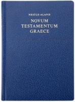 НОВЫЙ ЗАВЕТ НА ГРЕЧЕСКОМ ЯЗЫКЕ. 27-е издание. Синий цвет /Nestle-Aland Novum Testamentum Graece/
