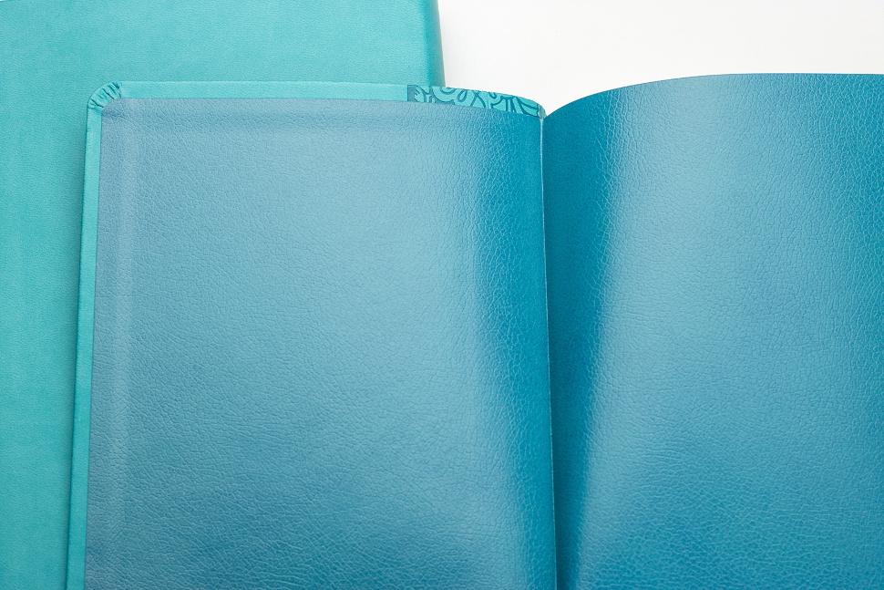 БИБЛИЯ КАНОНИЧЕСКАЯ 055 MTiS Бирюзовый цвет, гибкий переплет, индексы, серебряный обрез, закладка /135х210/
