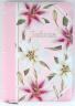 БИБЛИЯ 055 ZTI Розовая, лилии, парал. места, серебрянный срез, индексы, словарь /150x205/