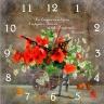"""Часы квадратные """"Да владычествует в сердцах ваших мир Божий..."""" /повозка/"""