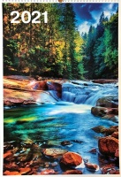 Перекидной календарь на пружине 2021: Фотопейзажи (6 листов)