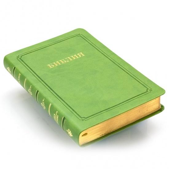 БИБЛИЯ КАНОНИЧЕСКАЯ 055 MTiG Зеленый, гибкий переплет, золотой обрез, индексы, закладка /135х210/