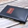 БИБЛИЯ 067 ZTI Черный цвет, рамка, пралел. места, золотой срез, индексы, молния, закладка /150х230/