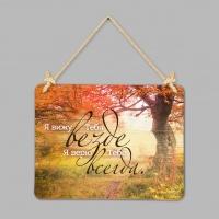 """Табличка интерьерная из дерева: """"Я вижу Тебя"""""""