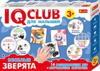"""IQ CLUB для малышей """"Веселые зверята"""". 14 развивающих игр + обучающие карточки"""