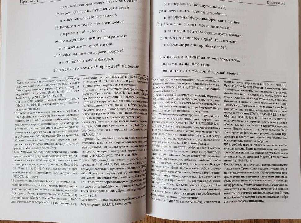 БИБЛИЯ ДЛЯ ИЗУЧЕНИЯ: Книга Притчей. Аннотированный перевод Прокопенко