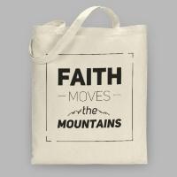"""Сумка холщовая """"Вера может двигать горы"""""""