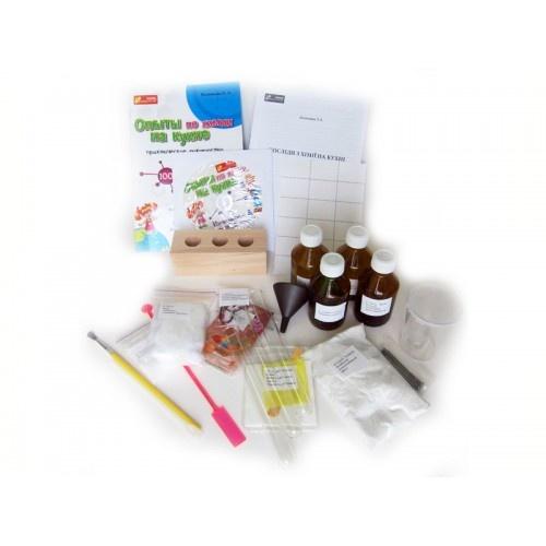 Опыты по химии на кухне. Набор для экспериментов + DVD с видеоопытами. 10+