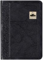 БИБЛИЯ 045 SB Черный цвет, позолота, закладка, парал. места, словарь /120х165/