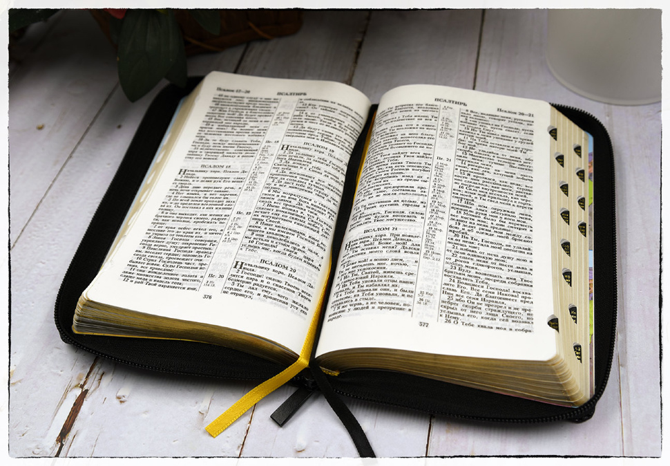 БИБЛИЯ 057 ZTI (B5) Бордовый, солнце, кожа, молния, индексы, золотистый обрез, две закладки /120х190/