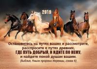 Карманный календарь 2019: Остановитесь на путях ваших