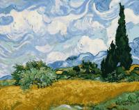 "КАРТИНА ПО НОМЕРАМ. ""Пшеничное поле с кипарисами. Худ. Ван Гог"" /40х50/"