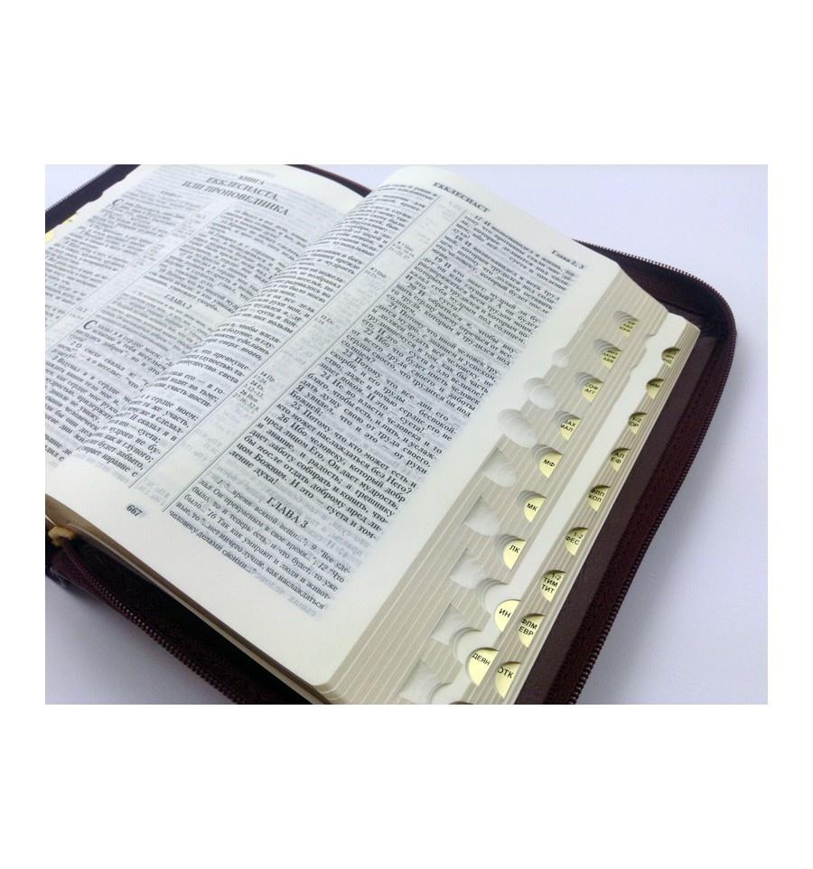 БИБЛИЯ 045 ZTI Верт. орнамент парал. места, индексы, на молнии /130x185/