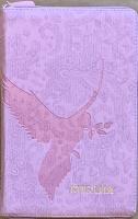 БИБЛИЯ 055 ZTI Розовый, голубь, искусственная кожа, молния, индексы, две закладки, золотой срез, параллельные места, крупный шрифт /143х220/